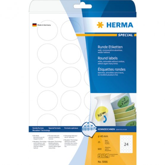 Herma label removable ø40 (600)