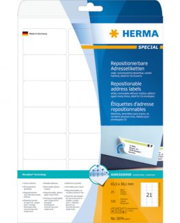 Herma label removable 63,5x38,1 (525)