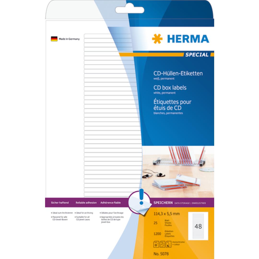 Herma label Special CD box 114,3x5,5 (1200)