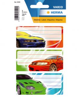 Herma stickers Vario book label cars (3)