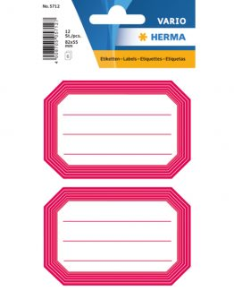 Herma stickers Vario book label red frame (6)