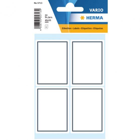 Herma stickers Vario book label grey frame (6)
