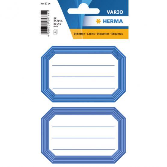Herma stickers Vario book label blue frame (6)