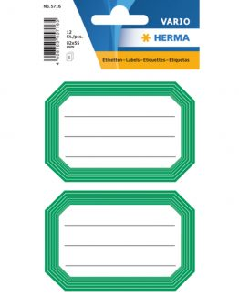 Herma stickers Vario book label green frame (6)