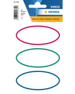 Herma stickers Vario book label oval frame (6)