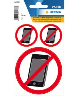 "Herma label ""No mobile"" (3)"