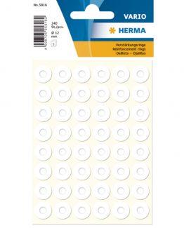 Herma reinforcement ring film ø12 white (240)