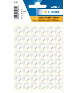 Herma reinforcement ring film ø12 transp (240)