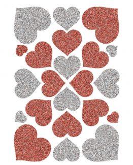 Herma stickers Magic haerts red+silve (1)