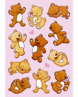 Herma stickers Magic bears with hearts (1)