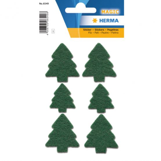 Herma stickers Magic christmas trees felt (1)