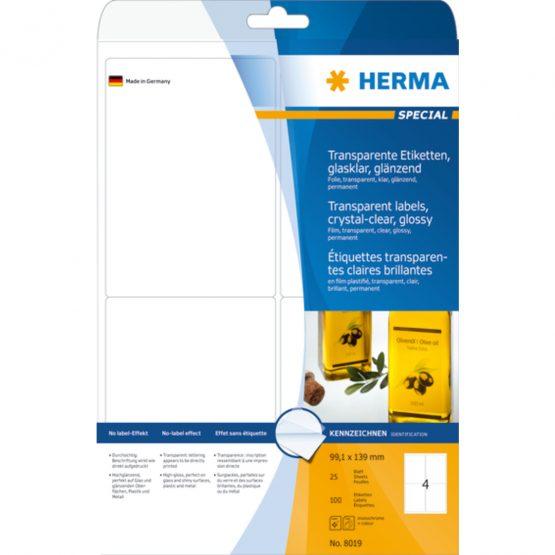 Herma label film 99,1x139 transp glossy (100)