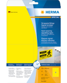 Herma label film extra strong 105x148 yellow (100)