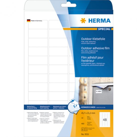Herma label film extra strong 45,7x21,2 (480)