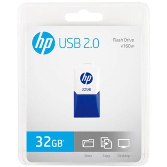 USB 2.0 HP v160w 32GB, White/Blue