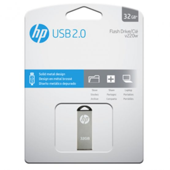 USB 2.0 HP v220w 32GB, Silver