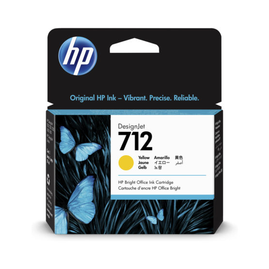 No712 29ml Yellow DesignJet Ink Cartridge