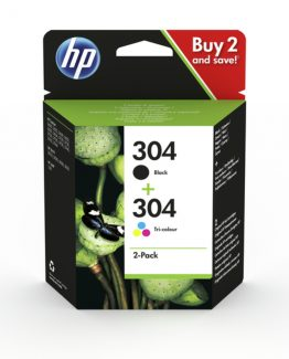 No304 2-pack black/color ink cartridge blistered