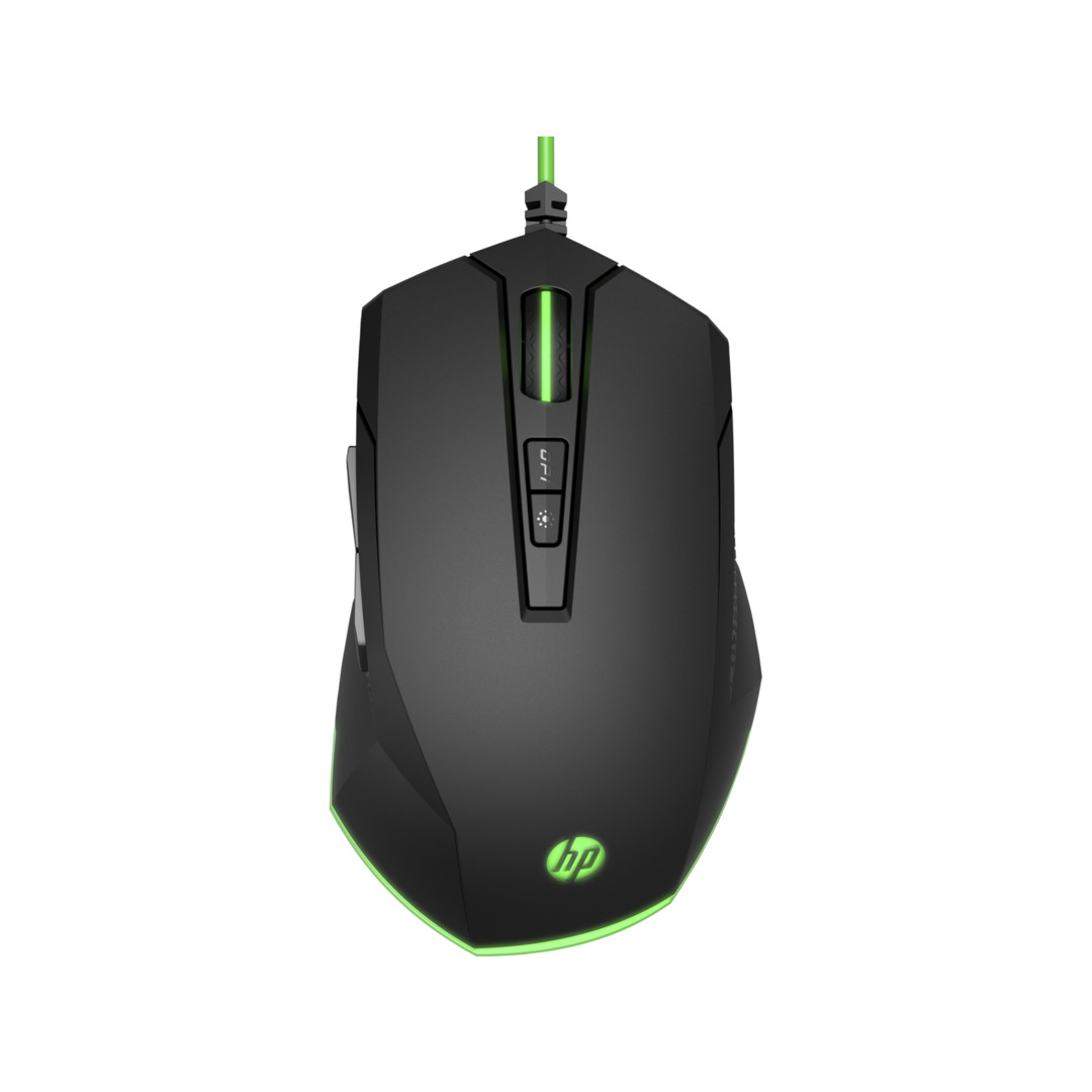 HP Pavilion Gaming Mouse 200, Black/Green