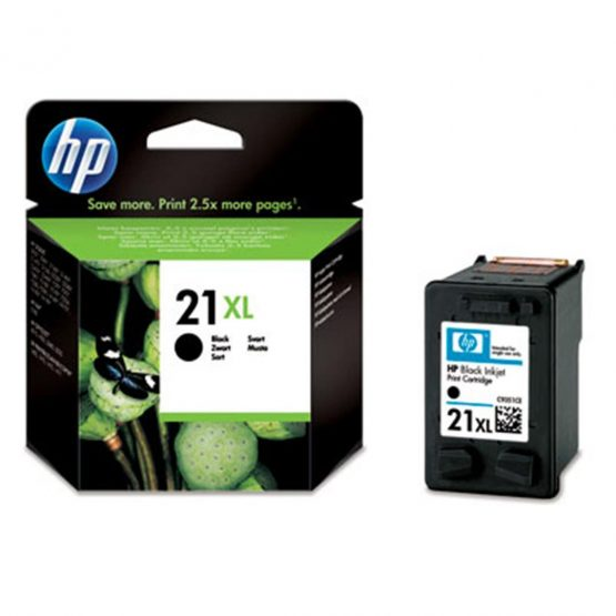 No21 XL  black ink cartridge, blistered