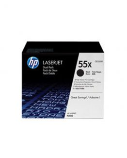 LaserJet 55X black toner HC(2) dual-pack