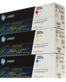 Color LaserJet 305A c/y/m tri-pack