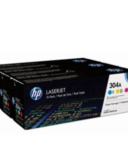 Color LaserJet 304A c/y/m tri-pack
