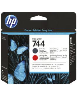 HP 744 Matte black &ChromaticRed DesignJet Printhead