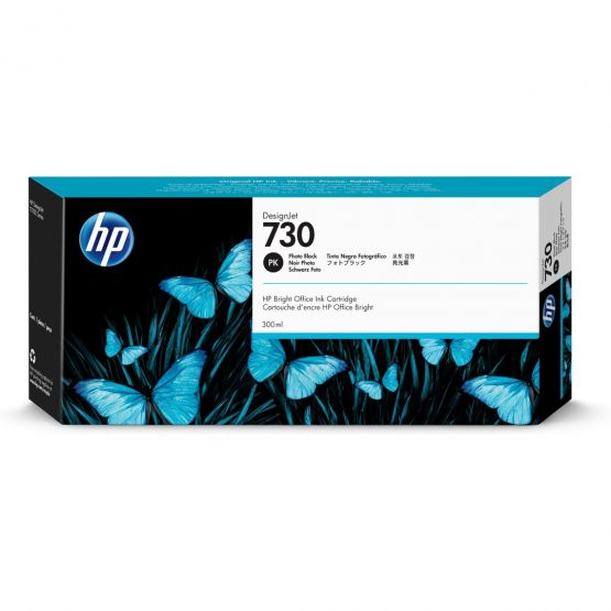 HP no730 300 ml. Photo Black DesignJet Ink Cartridge