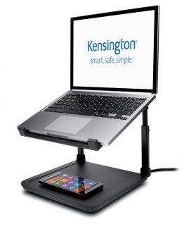 Kensington Laptop Riser Wireless Charg.