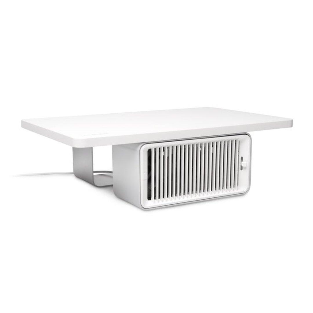 Kensington Wellness Monitor Stand with desk fan