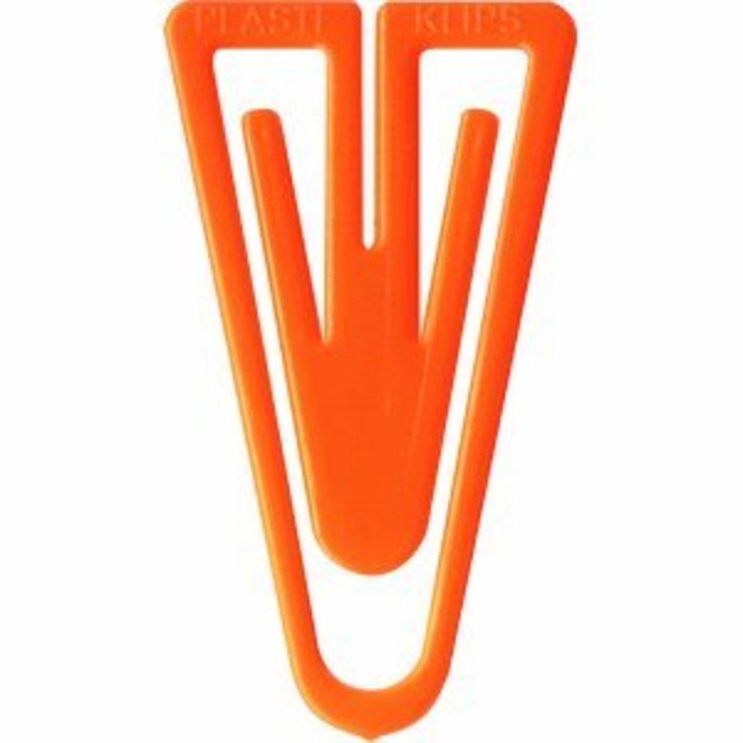 Paper Clips plastic 35mm 200/box orange