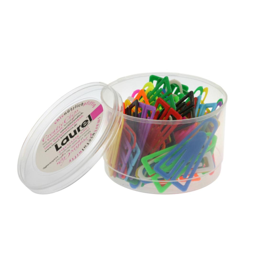 Paper clip 60 mm PS mix Laurel 75/tin