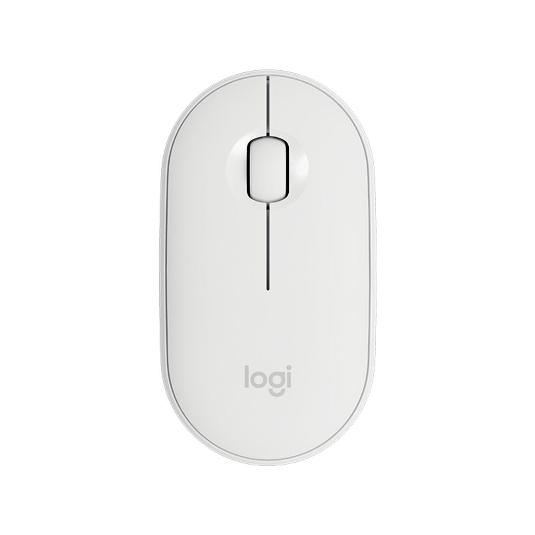 Logitech Pebble M350 Wireless Mouse, Off White