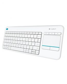 K400 Plus Wireless Touch Keyboard, White (Nordic)