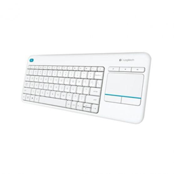 K400 Plus Wireless Touch Keyboard, White (Nordic)