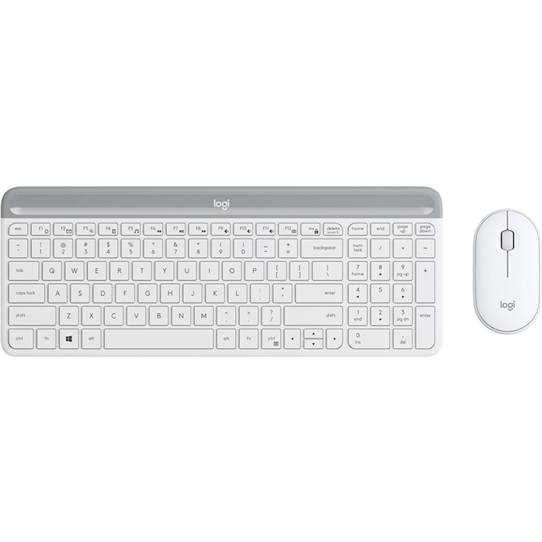 MK470 Slim Wireless Desktop Set, Offwhite (Nordic)