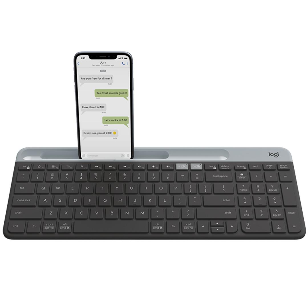 K580 Slim Multi-Device Wireless Keyboard, Graphite (Nordic)