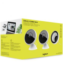 Circle 2 Combo Pack (2 wired cameras + window mount), White