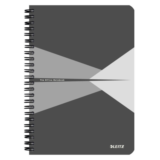 Notebook Office Card A5 ruled grey