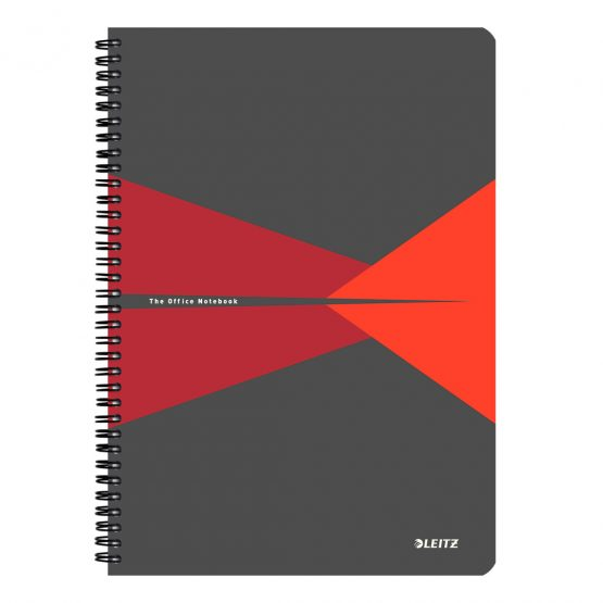Notebook Office PP A4 ruled red