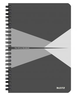 Notebook Office PP A5 ruled grey