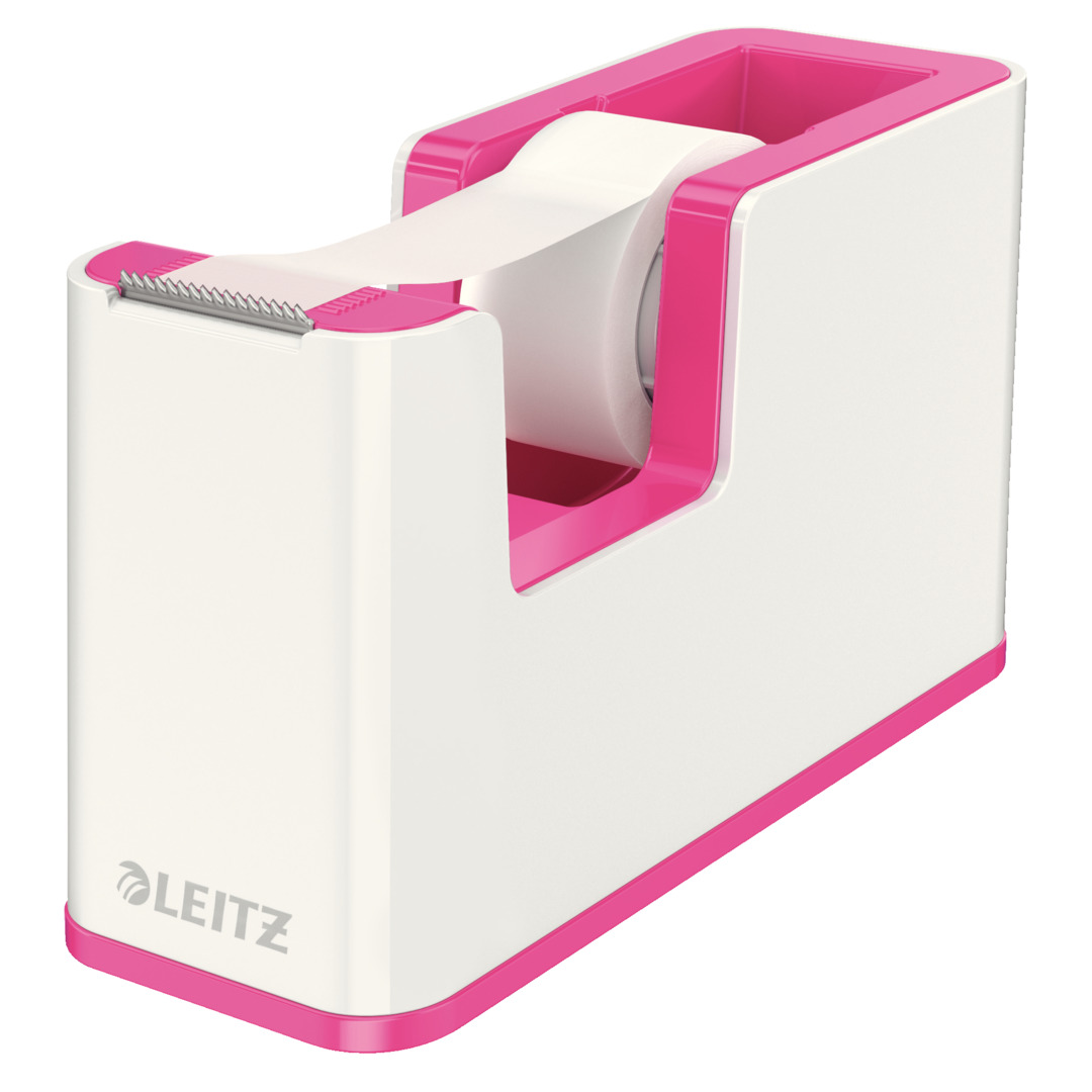 Tape dispenser w/tape WOW white/pink