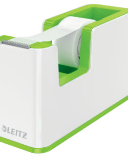 Tape dispenser w/tape WOW white/green