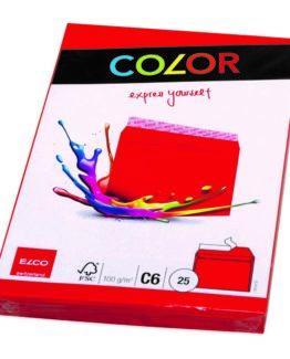Envelope C6 red 25-pac