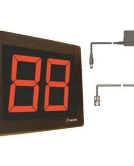 Meto LED display w/2-digit w/cable+cord black