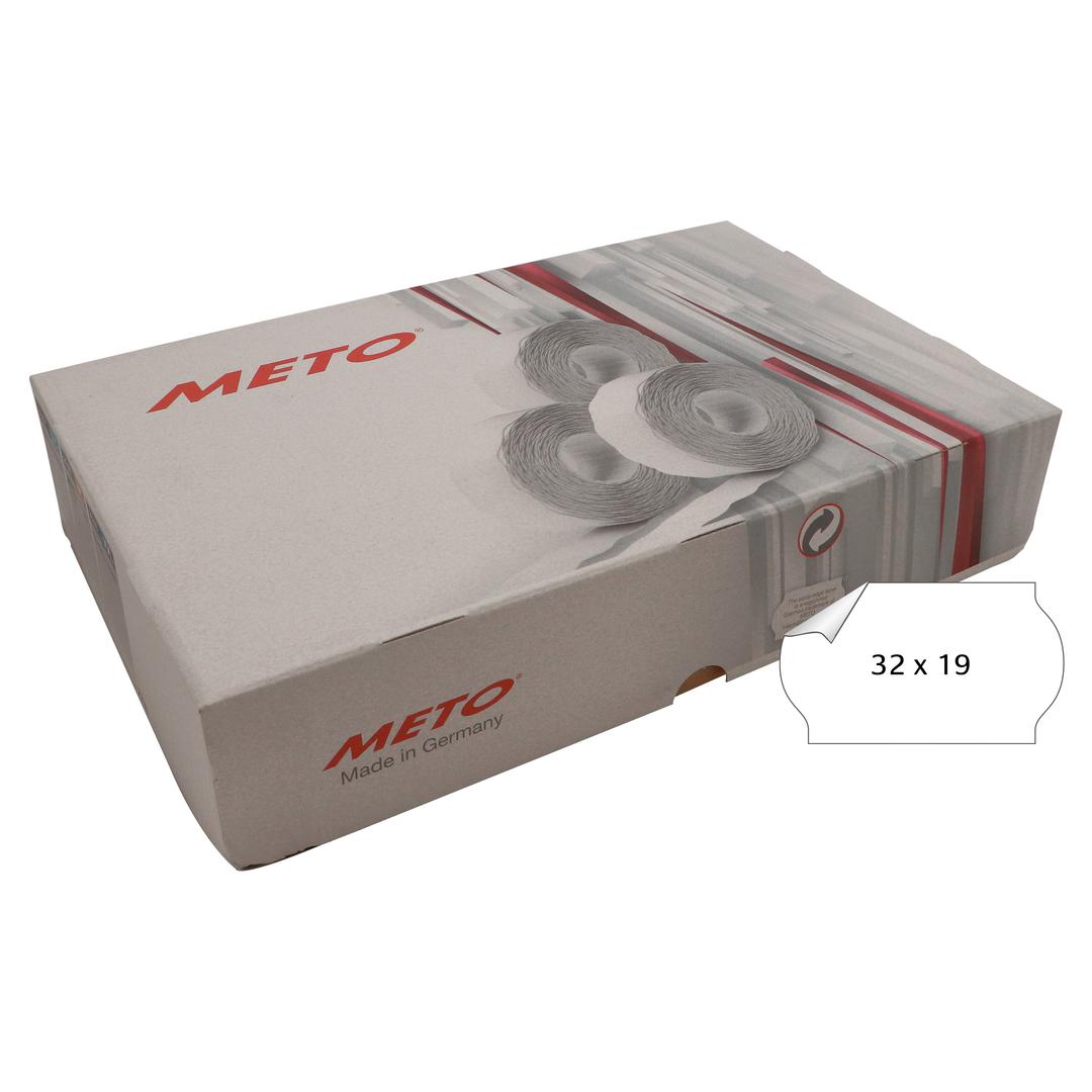 METO Labels 32x19 G2 white 30-rolls