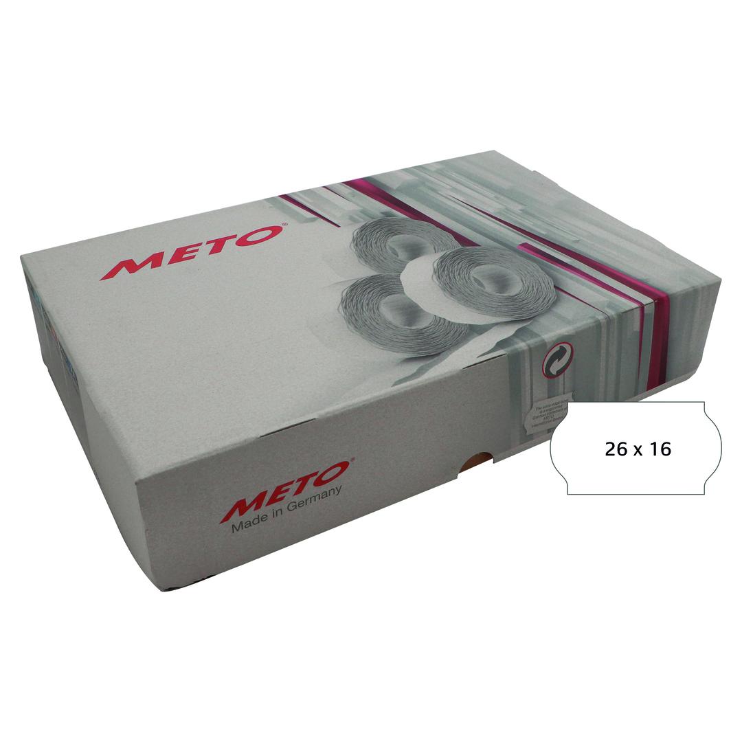 METO Labels 26x16 G2 white 36-rolls