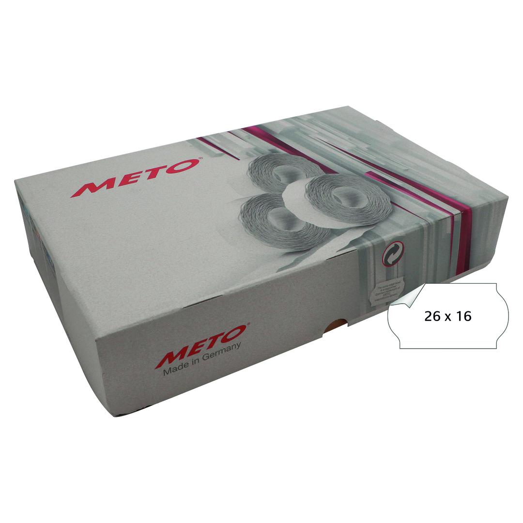 METO Labels 26x16mm, white, G1 (36-rolls)