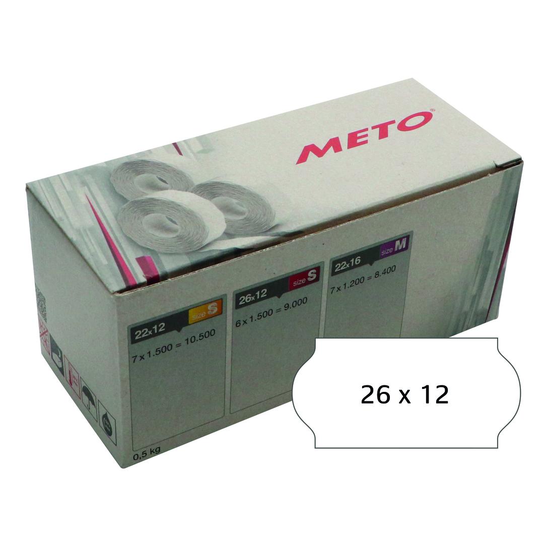 METO Labels 26x12 G2 white 6-rolls